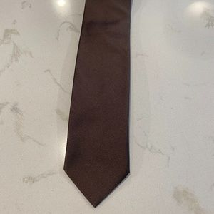 Breuer 100% Silk Brown Solid Work Ben Tie